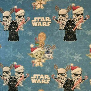 STAR WARS Wrapping Paper Gift Wrap 1 Roll NEW